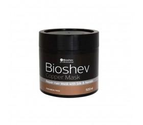 Bioshev Repair Hair Mask With Keratin And Silk Copper 500ML